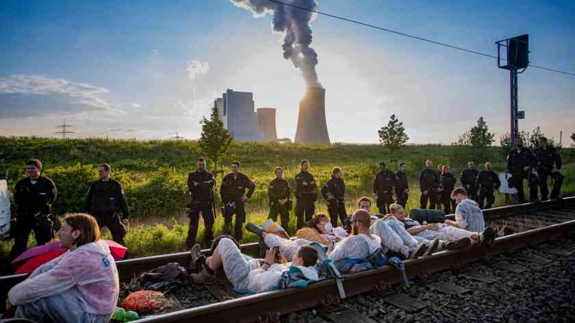Ende Gelände Blockade 2019