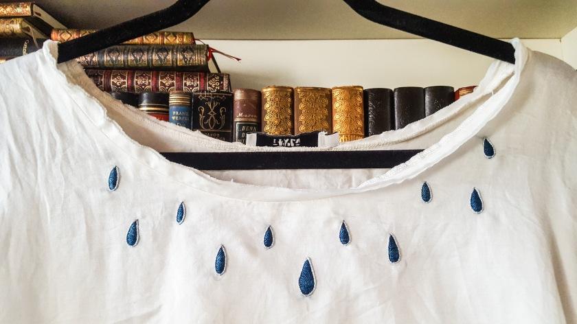 Upcycling Shirt Seidenstickerei