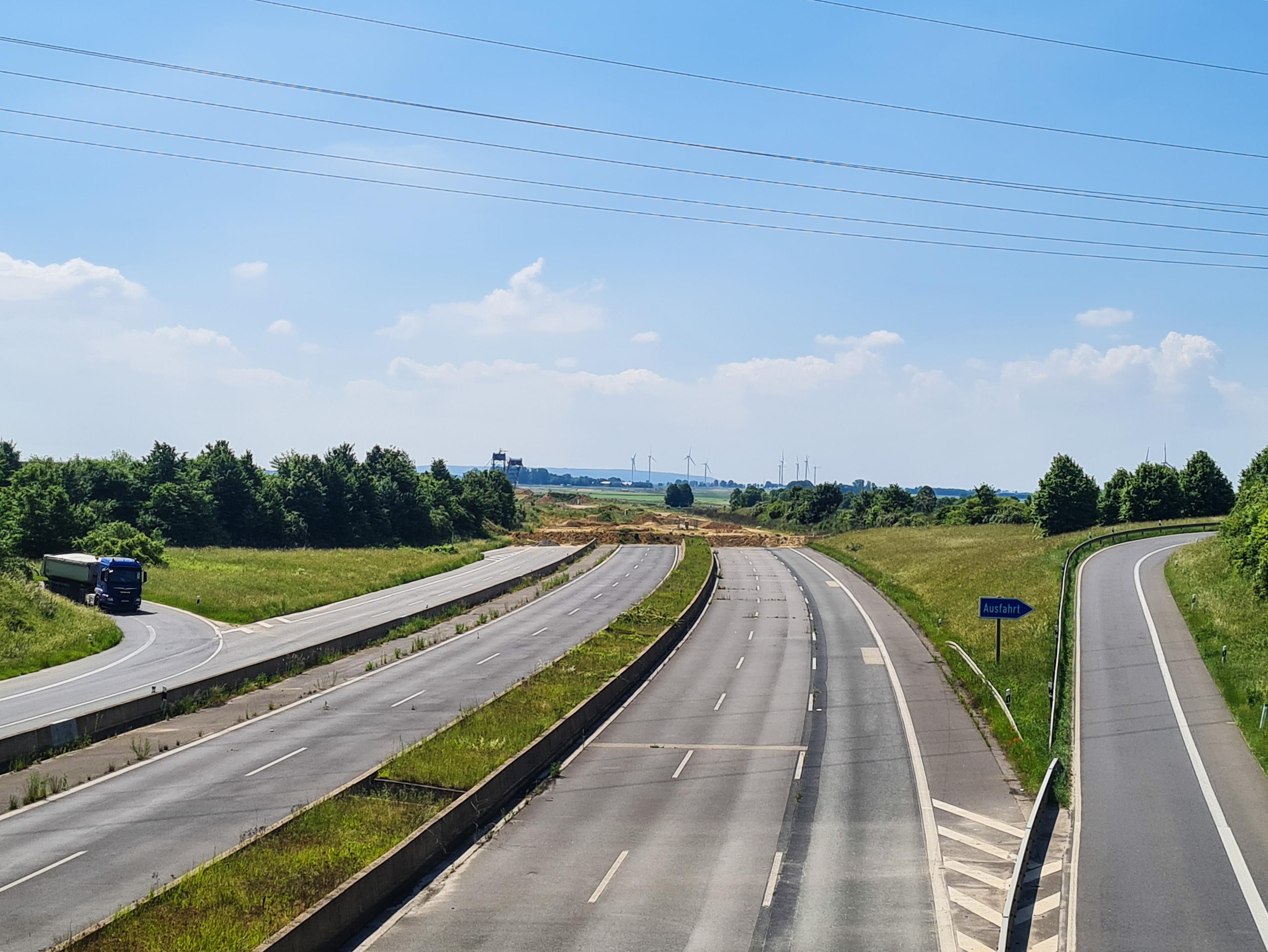 Autobahn Tagebau Garzweiler