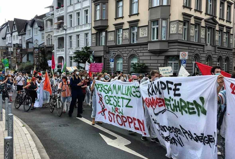 NRW Versammlungsgesetz Demonstration Düsseldorf